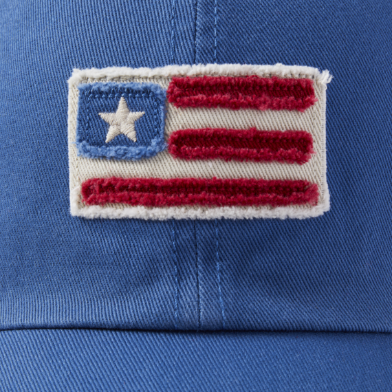 American Flag Tattered Chill Cap