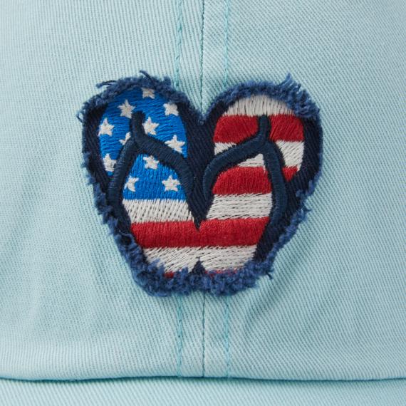 Americana Flip Flops Tattered Chill Cap