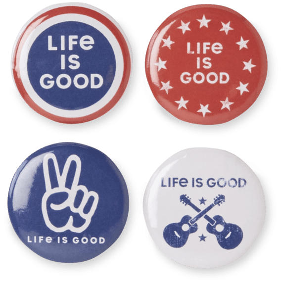 Americana Positive Pins 4-Pack
