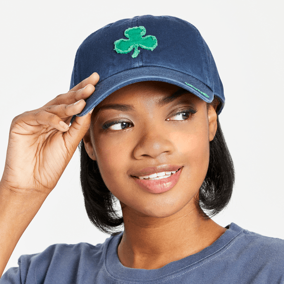 Applique Shamrock Tattered Chill Cap