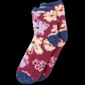 Artistic Flowers Snuggle Crew Socks