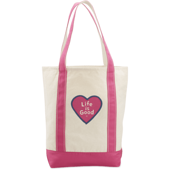 Heart Carry On Canvas Tote