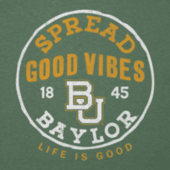Men's Baylor Good Vibes Long Sleeve Cool Tee
