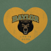 Women's Baylor Heart Long Sleeve Cool Vee