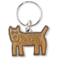 Be The Person Dog Keeper Keyring
