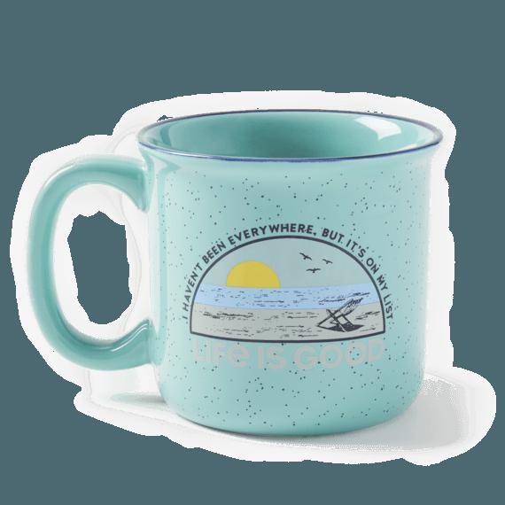 Beach List Happy Camper Mug