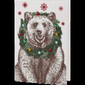 Bear and Wreath Holiday Card