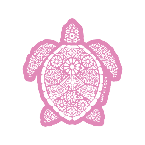 Beautiful Turtle Small Die Cut Decal
