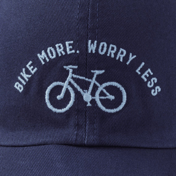 Bike More Worry Less Chill Cap