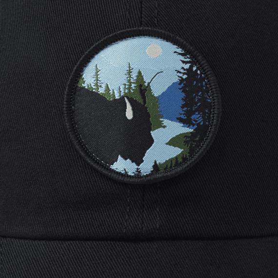 Bison Silhouette Soft Mesh Back Cap