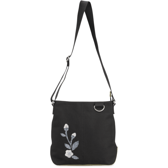 Blooming Pansy Wayfarer Crossbody