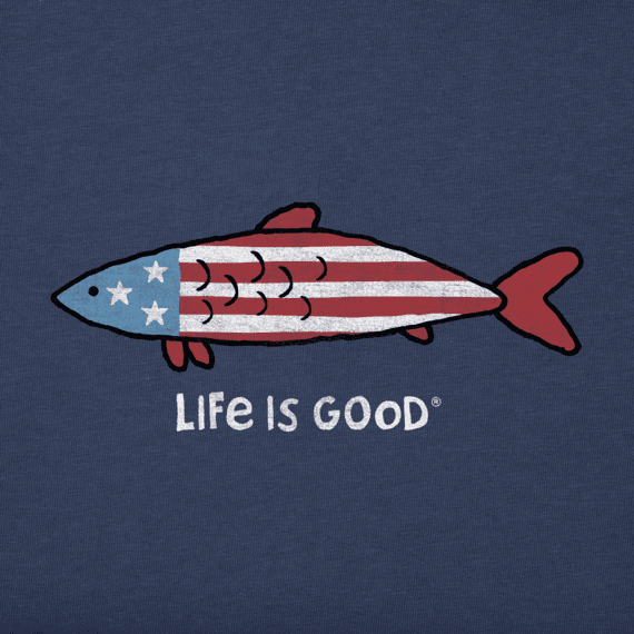 Boys Americana Fish Crusher Tee