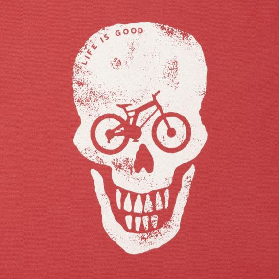 Boys Bike Skull Long Sleeve Crusher Tee
