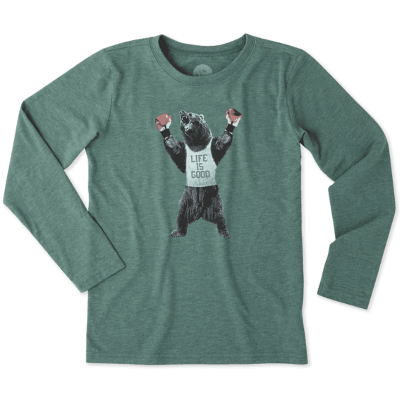 Boys Boxing Bear Long Sleeve Cool Tee