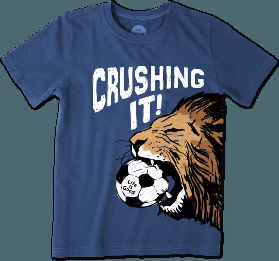 Boys Crushing It Soccer Crusher Tee