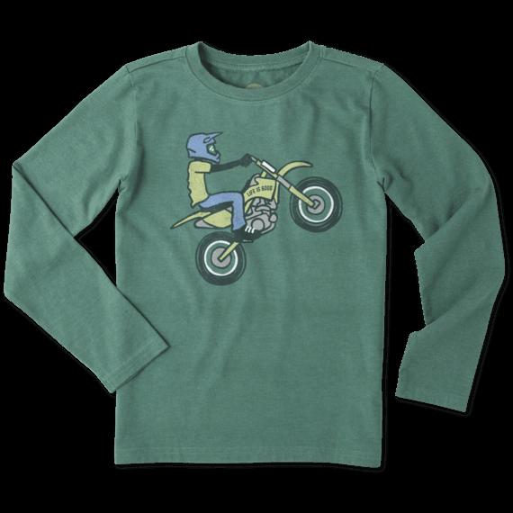 03372df23b1 Boys Dirt Bike Rider Long Sleeve Crusher Tee