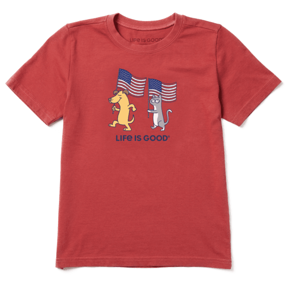 Boys Dog Cat Flags Crusher Tee