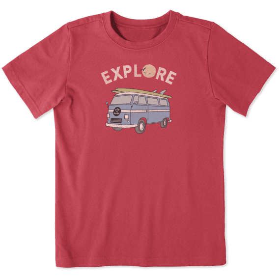 Boys Explore Beach Van Crusher Tee