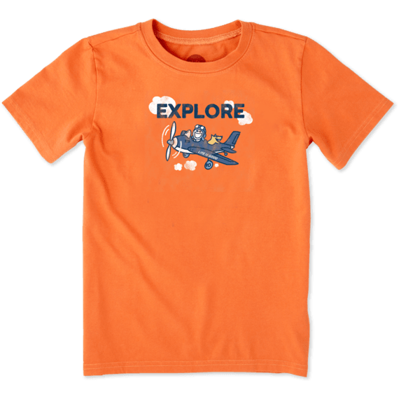 Boys Explore Plane Crusher Tee