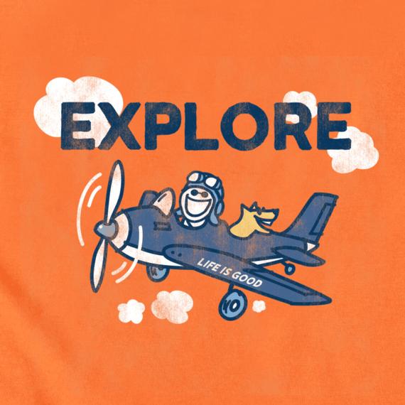Boys Explore Plane Crusher Tee