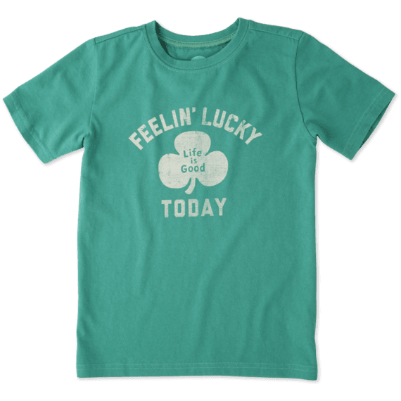 Boys Feelin' Lucky Today Crusher Tee