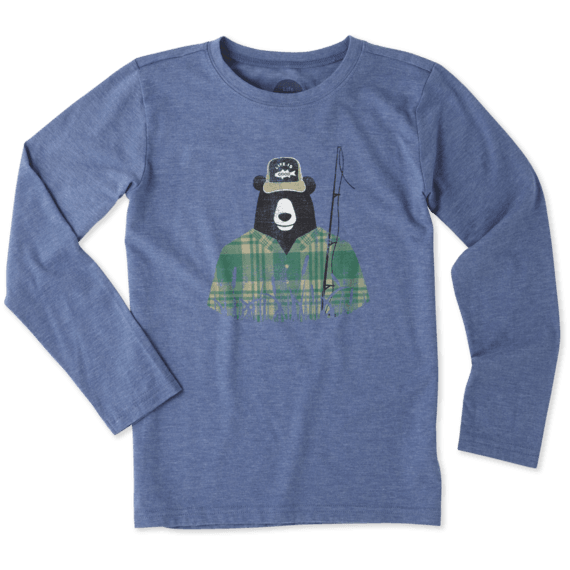 Boys Fisherbear Long Sleeve Cool Tee