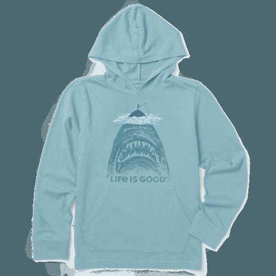 Boys Fishing Shark Hooded Crusher Tee