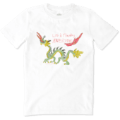 Boy's Flaming Awesome Boy's Crusher Tee