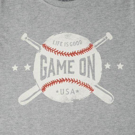 Boys Game On Baseball Crusher Tee