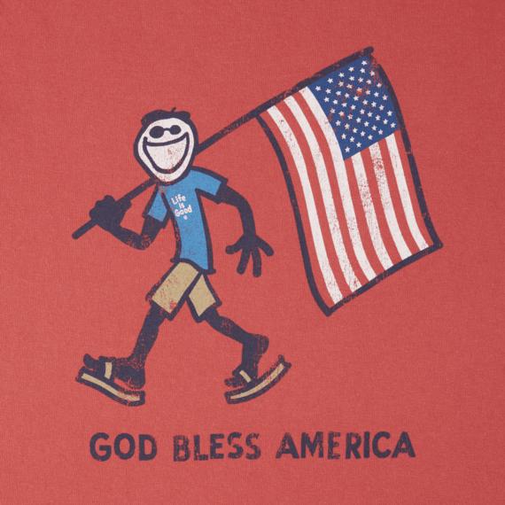 Boys God Bless America Crusher Tee