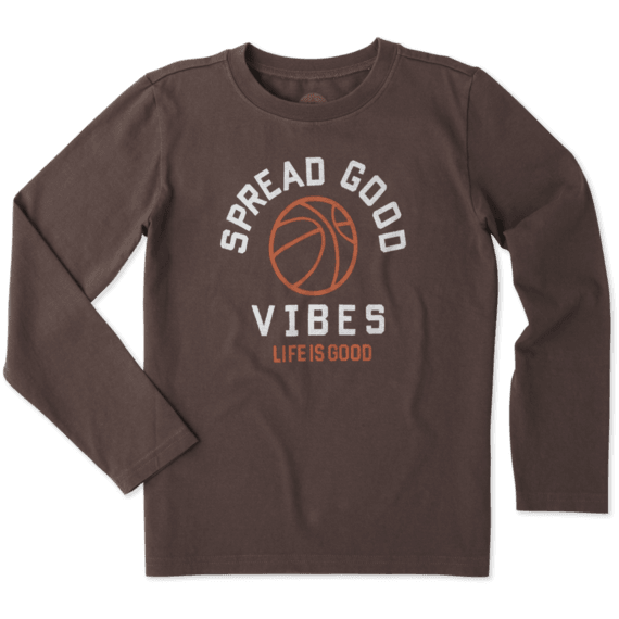 Boys Good Vibes Basketball Long Sleeve Tee