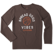 Boys Good Vibes Basketball Long Sleeve Tee