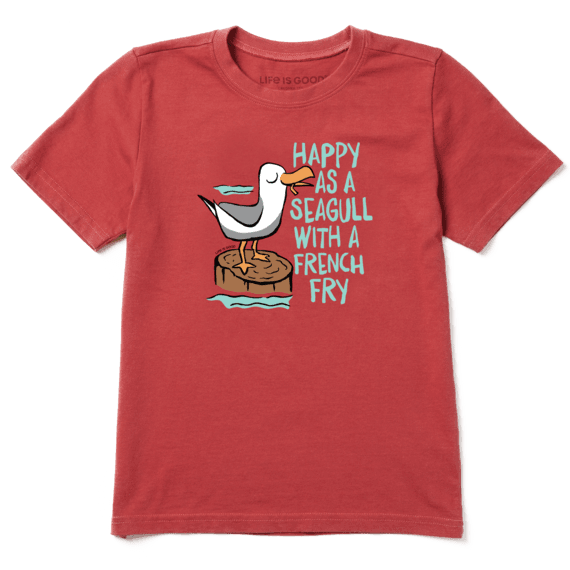 Boys Happy As a Seagull Crusher Tee