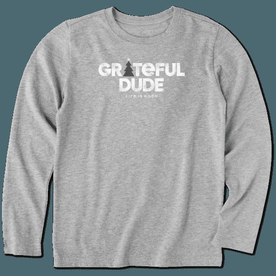 Boys Holiday Grateful Dude Long Sleeve Crusher Tee