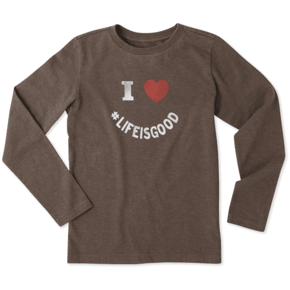 Boys I Heart LIG Long Sleeve Crusher Tee