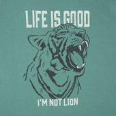 Boys I'm Not Lion Long Sleeve Crusher Tee