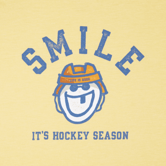 Boys It's Hockey Season Long Sleeve Cool Tee