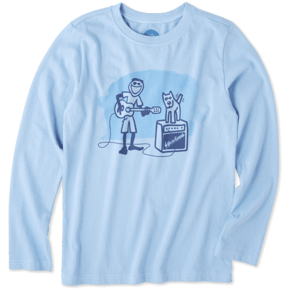 Boys Jake Rocket Acoustic Long Sleeve Crusher Tee