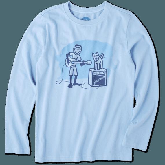 Boys Jake Rocket Acoustic Long Sleeve Crusher Tee