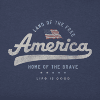 Boys Land Of The Free Crusher Tee