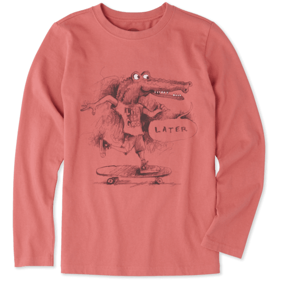 Boys Later Gator Long Sleeve Crusher Tee