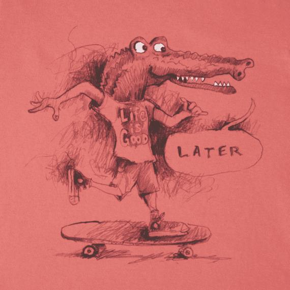 Boys Later Gator Long Sleeve Crusher Tee