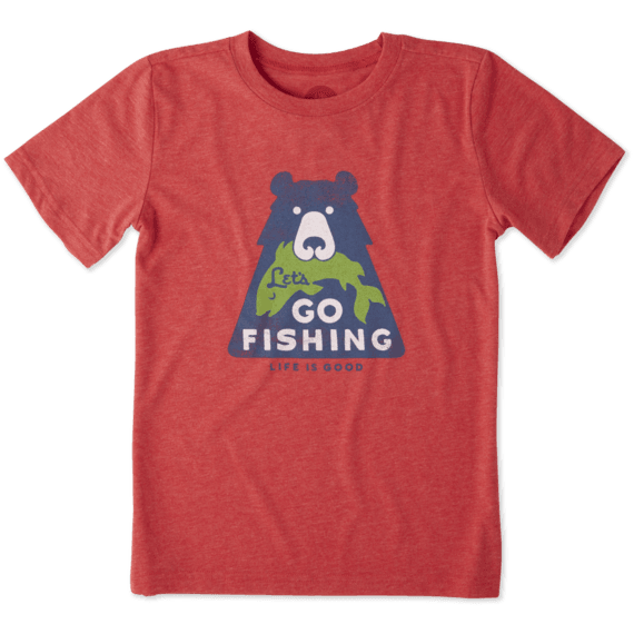 Boys Let's Go Fishing Cool Tee