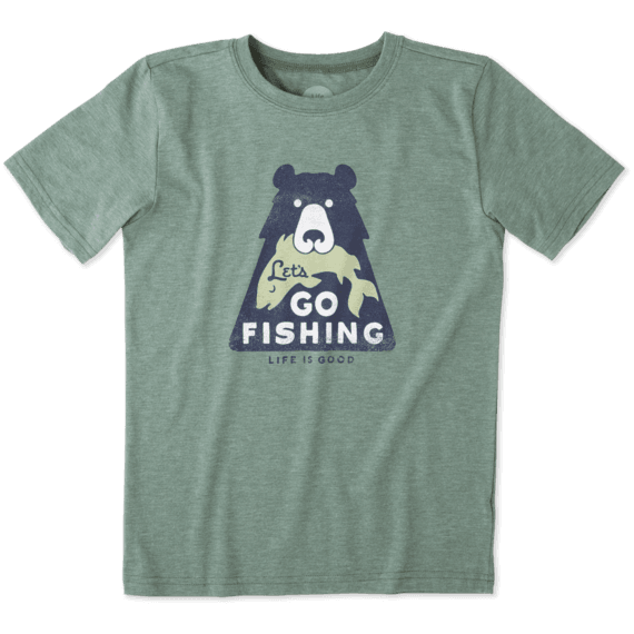 Boys Lets Go Fishing Cool Tee
