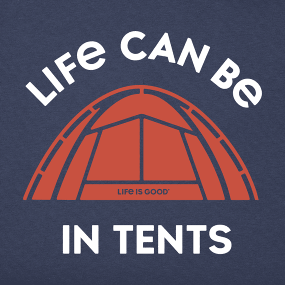 Boys Life Can Be In Tents Long Sleeve Crusher Tee