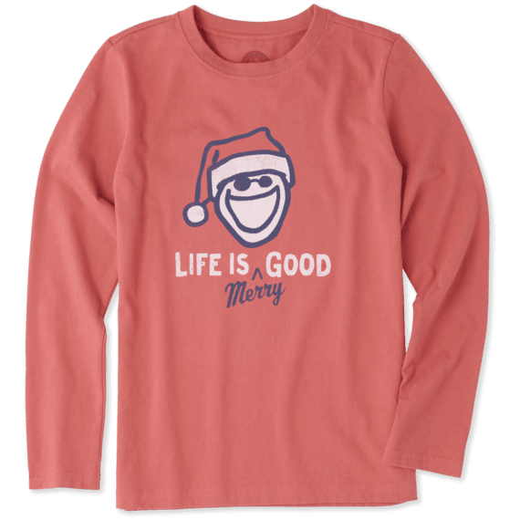 Boys Life Is Merry Good Long Sleeve Crusher Tee