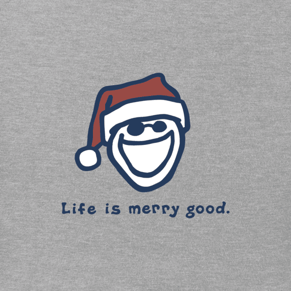 Boys Life Is Merry Good Long Sleeve Vintage Crusher Tee