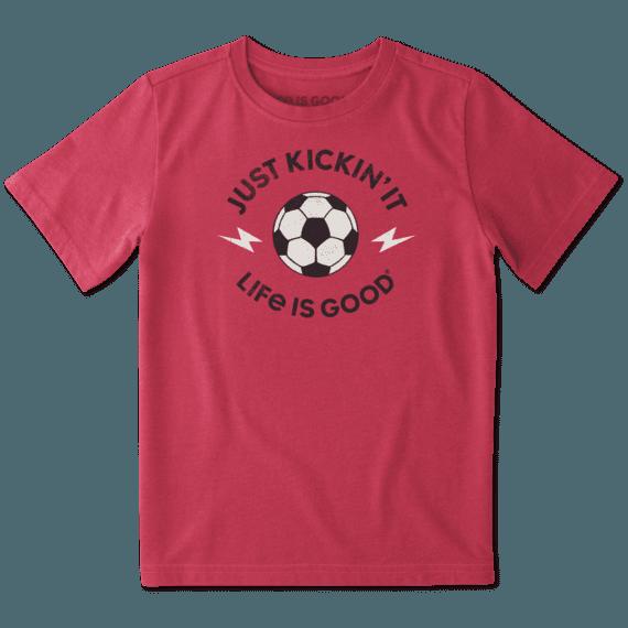 Boys Lightning Soccer Crusher Tee