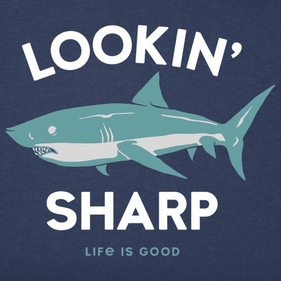 Boys Lookin' Sharp Shark Crusher Tee