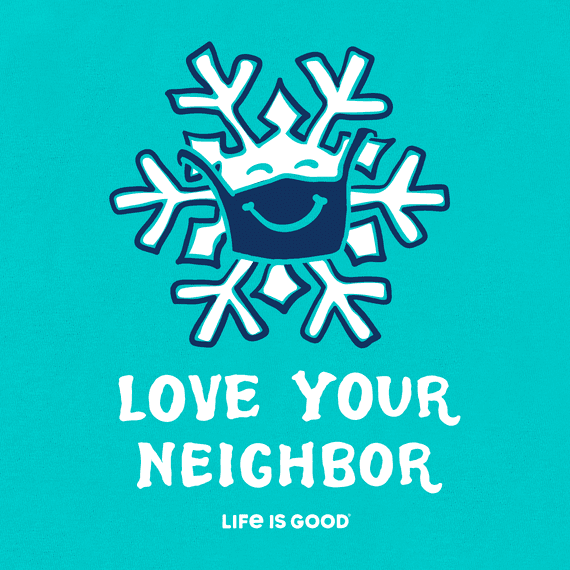 Boys Love Your Neighbor Snowflake Crusher Tee